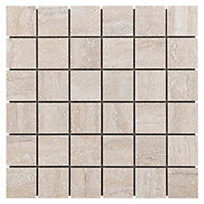 Travertini Argento Porcelain Mosaic