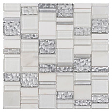 Parana Light Pattern Glass Mosaic