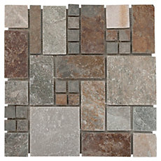 Adirondack Pattern Light Decorative Slate Mosaic