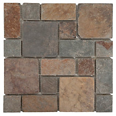 Adirondack Pattern Multi Decorative Slate Mosaic