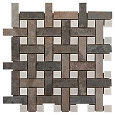 Earth Basket Weave Decorative Slate Mosaic