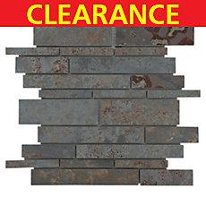 Clearance! Multi Stick Natural Slate Mosaic