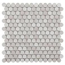 Gray Penny Porcelain Mosaic