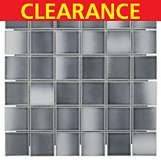 Clearance! Gray Multi Porcelain Mosaic