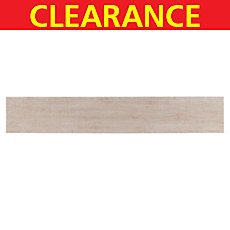Clearance! Light Beechwood White Body Wood Plank Ceramic Tile
