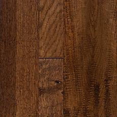 Antique Oak Hand Scraped Random Width Solid Hardwood