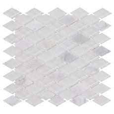 Dover Carrara Diamond Glass Mosaic