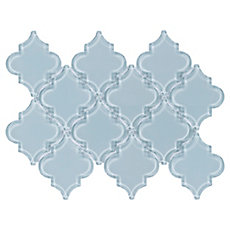 Fleur Spa Water Jet Cut Arabesque Glass Mosaic