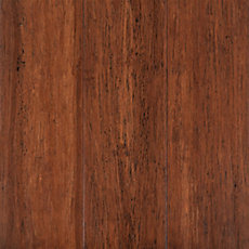 Eco Forest Antique Hand Scraped Wire Brushed Locking Stranded Solid Bamboo