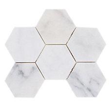 Carrara Milano Hexagon Marble Mosaic