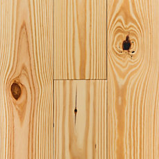 Natural Pine Wirebrushed Solid Hardwood