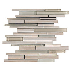 Acadia Sand Linear Glass Mosaic