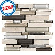 New! Santos Beige Linear Glass Mosaic