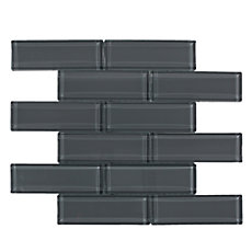 Pure Shadow Brick Glass Mosaic