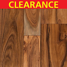 Clearance! Acacia Small Hand Scraped Engineered Hardwood