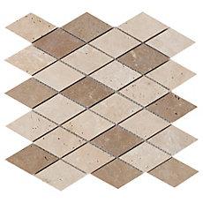 Diamond Mix Travertine Mosaic