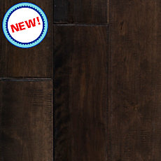 New! Graphite Birch Hand Scraped Solid Hardwood