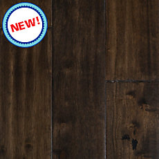 New! Hevea Brown Hand Scraped Solid Hardwood
