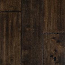 Hevea Brown Hand Scraped Solid Hardwood