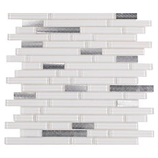 Sequioa Linear Glass and Metal Mosaic