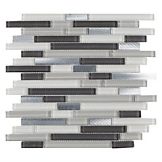 Cascades Linear Glass and Metal Mosaic
