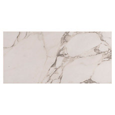 Carrara Arabescato Porcelain Tile 12in X 24in Floor And Decor