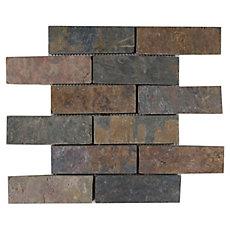 Peacock Brick Slate Mosaic