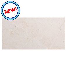 New! Vanilla Cream Red Marble Tile