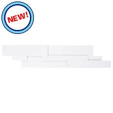 New! Lexington White Honed Quartzite Panel Ledger