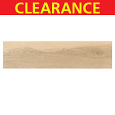 Clearance! Himba Beige Wood Plank Porcelain Tile
