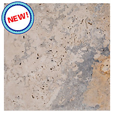 New! Scabos Country Brushed Travertine Tile