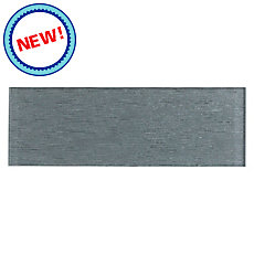 New! Silver Rain Glass Tile