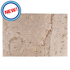 New! Sahara Cross Cut Brushed Travertine Tile