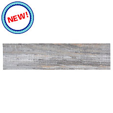 New! Gray Wood Plank Porcelain Tile