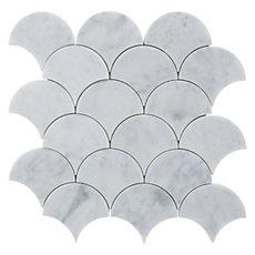 Carrara Fan Marble Mosaic