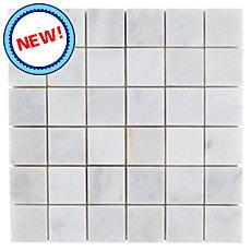 New! Regal White Marble Mosaic