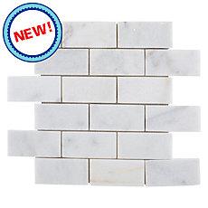 New! Regal White Honed Marble Mosaic