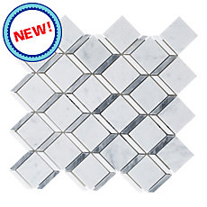 New! Carrara Thassos Cube Marble Mosaic