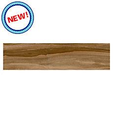 New! Ashville Pecan Wood Plank Porcelain Tile