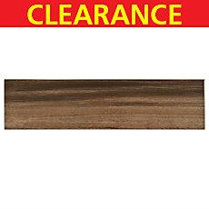 Clearance! Saddle Acacia White Body Wood Plank Ceramic Tile
