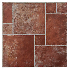 Track Terracotta Ceramic Tile