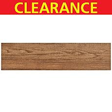 Clearance! Teton Owen White Body Wood Plank Ceramic Tile