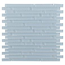 Pure Spa Blue Shiny Stick Glass Mosaic