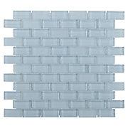 Pure Spa Blue Mix Brick Glass Mosaic