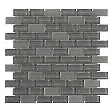 Pure Shadow Mix Brick Glass Mosaic
