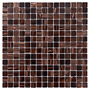 Brown Mix Glass Mosaic