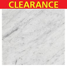 Clearance! Bianco Carrara Italian Marble Tile