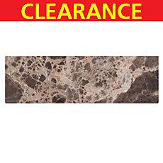 Clearance! Dark Emperador Marble Bullnose