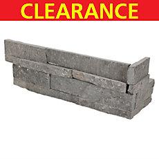 Clearance! Titanium Black Quartzite Corner Panel Ledger