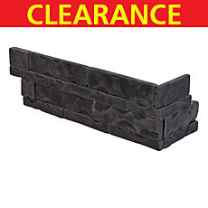 Clearance! Black Antique Slate Corner Panel Ledger